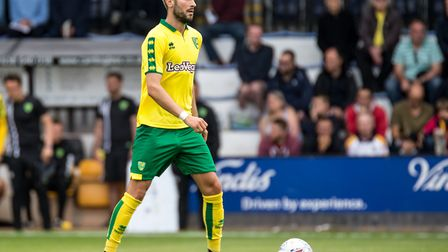 Mario Vrancic of Norwich City during the Pre-season Friendly match at the Cambs Glass Stadium , Camb