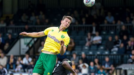 Christoph Zimmermann of Norwich City during the Pre-season Friendly match at the Cambs Glass Stadium