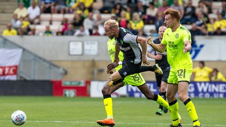 Alex Pritchard of Norwich City during the pre-season friendly at the Cambs Glass Stadium , Cambridge