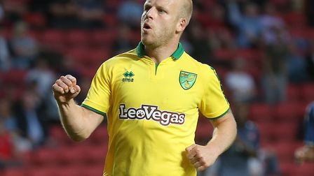 Steven Naismithcelebrates firing Norwich 2-0 ahead at Charlton. Picture by Paul Chesterton/Focus Ima