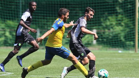 Adam Phillips in action on Norwich City's German tour. Picture: Paul Chesterton/Focus Images Ltd