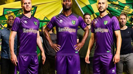 Norwich City have unveiled a purple third kit for the new season. Picture: Norwich City FC official