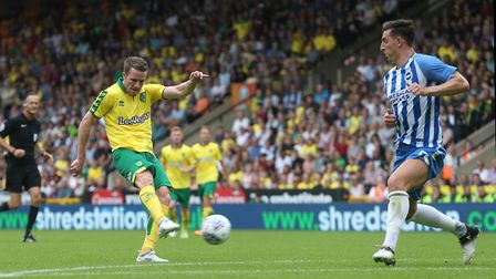 Marley Watkins levelled for Norwich City in the first half against Brighton with a stunning strike.