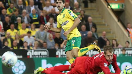 Nelson Oliveira's good form for Norwich has earned him a Portugal recall. Picture by Paul Chesterton