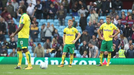 Norwich City's players were well-beaten at Aston Villa. Picture: Paul Chesterton/Focus Images Ltd