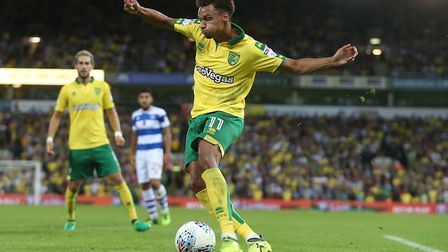 Josh Murphy of Norwich in action during the Sky Bet Championship match at Carrow Road, NorwichPictur