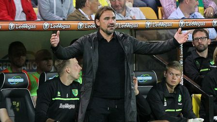 Norwich Head Coach Daniel Farke during the Sky Bet Championship match at Carrow Road, NorwichPicture