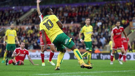 Cameron Jerome gets the Canaries back on level terms just a couple of minutes after going behind.