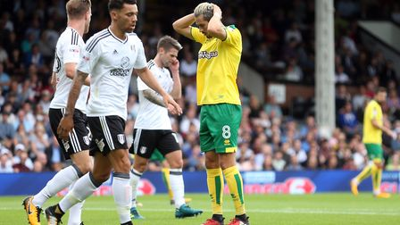 Mario Vrancic rues a missed chance at Craven Cottage. Picture: Paul Chesterton/Focus Images