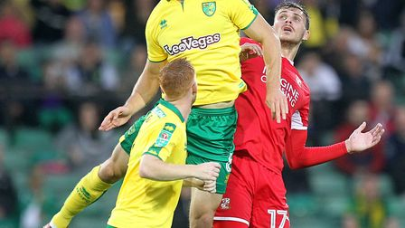 Christoph Zimmermann has been a dominant figure since his move to Norwich. Picture: Paul Chesterton/