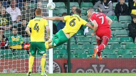 Norwich City were punished twice by Swindon on set peices in the League Cup midweek win. Picture: Pa