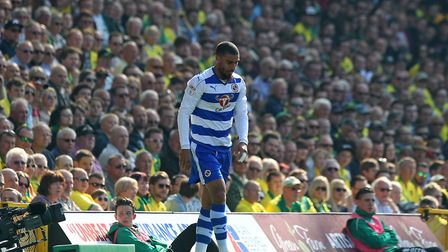 Lewis Grabban of Reading endured a miserable return to Carrow Road during the Sky Bet Championship m