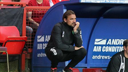 Daniel Farke takes charge of his first Norwich City league game at Fulham. Picture: Paul Chesterton/