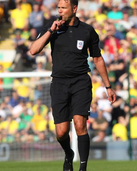 Referee James Linington takes charge of Fulham v City ... again. Picture: Paul Chesterton/Focus Imag