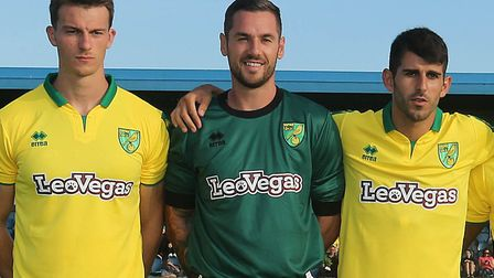 Remi Matthews (centre) got some Norwich City first-team action at Cobh Ramblers in their opening fri