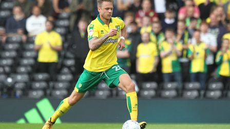Marcel Franke of Norwich in action during the Sky Bet Championship match at Craven Cottage, LondonPi