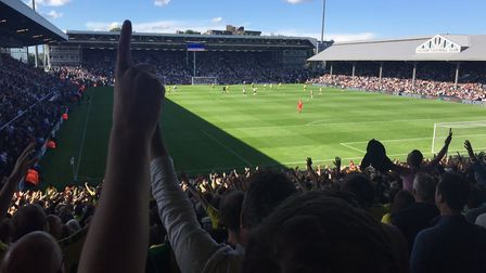 Dave Major's view of proceedings at Craven Cottage. Picture: Dave Major
