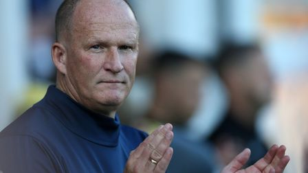 Sunderland manager Simon Grayson during Thursday's 1-0 win at Bury in the first round of the Carabao