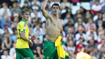 Nelson Oliveira insists his spat with Daniel Farke at Fulham is water under the bridge. Picture: Pau
