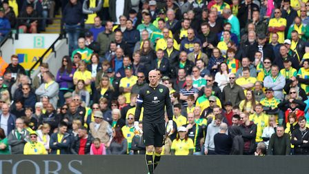 John Ruddy in front of the Barclay Stand during his last match for City. Picture: Paul Chesterton/Fo