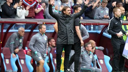 Daniel Farke is backing his Norwich City starlets to respond from a Villa Park trip to forget. Pictu