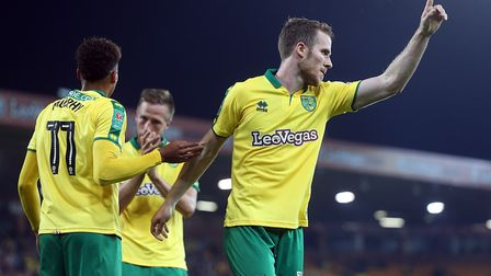 Marley Watkins scored Norwich City's third goal in their Carabao Cup second round success over Leagu