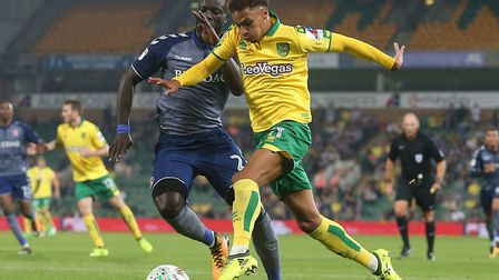 Josh Murphy scored twice during Norwich City's 4-1 win over Charlton at Carrow Road in the second ro