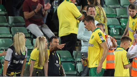 Christoph Zimmermann stops for photos and to chat with the fans at the end of the win over QPR. Pict