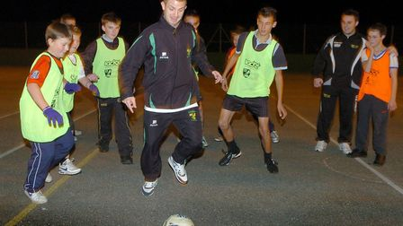 Jamie Cureton at North Walsham Sports Centre for a Norwich City Football in the Community project la