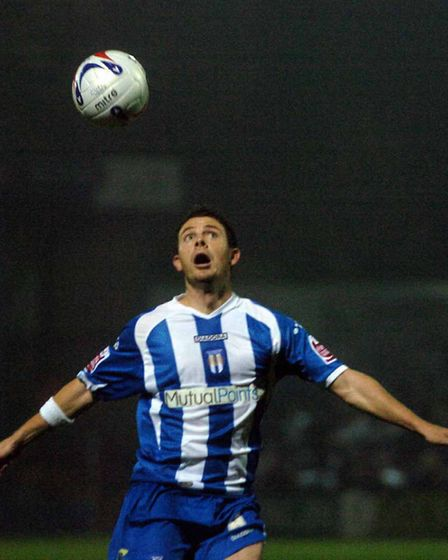In action for Colchester United against Sheffield Wednesday in 2006. Picture: Clifford Hicks