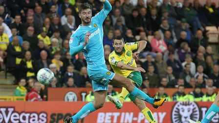 Wes Hoolahan couldn't break the deadlock during a 0-0 draw with Burton. Picture by Paul Chesterton/F