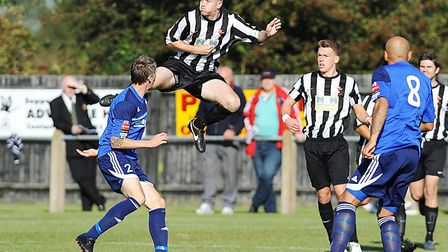 Flashback to Dereham's Town 2012-13 FA Cup run, ended by Met Police. Picture: Ian Burt