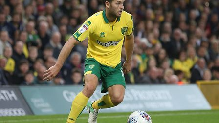 Wes Hoolahan starts for Norwich City at Brentford in the Carabao Cup this evening. Picture by Paul C
