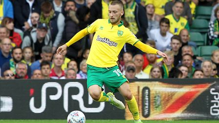 Tom Trybull enjoyed a winning league debut for Norwich City. Picture: Paul Chesterton/Focus Images L