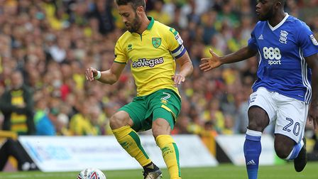 Ivo Pinto was made captain by head coach Daniel Farke ahead of the 1-0 win over Birmingham. Picture