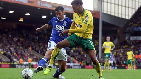 Josh Murphy was a useful attacking weapon in Norwich City's 1-0 Championship win over Birmingham Cit