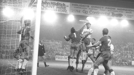 Norwich against Everton in the 80s - not Spud Thornhill's favourite fixture. Picture: Archant