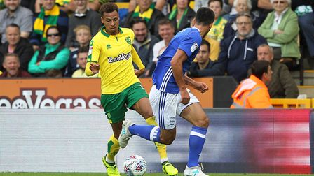 Josh Murphy is savouring regular action alongside Tom Trybull in Nowich City's midfield. Picture: Pa