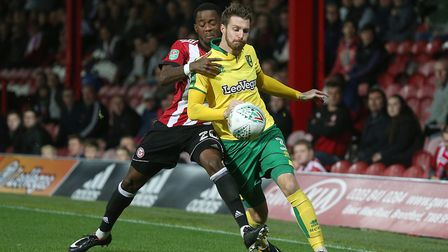 James Husband pressed his claims in Norwich City's League Cup win at Brentford. Picture: Paul Cheste