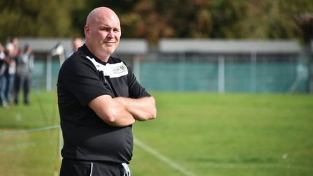 Acle manager Rob Taylor looks more relaxed as his side battle back from three goals down to draw wit