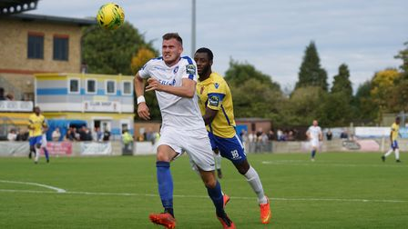 Shaun Bammant in action for Lowestoft at Staines. Picture: Shirley D Whitlow