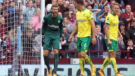 Angus Gunn endured a difficult start to the season, including four concesssions apiece at Aston Vill