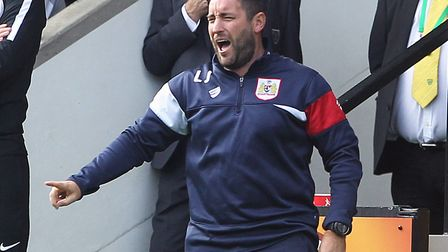 Bristol City manager Lee Johnson in full voice at Carrow Road recently. Picture: Paul Chesterton/Foc