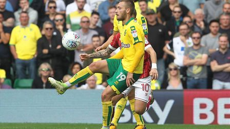 Tom Trybull is a bundle of energy for the Canaries. Picture: Paul Chesterton/Focus Images Ltd