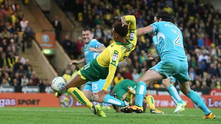 Josh Murphy and Norwich City were off target in their 0-0 draw against Burton Albion last night. Pic