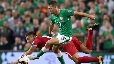 Norwich City star Wes Hoolahan started for Ireland against Serbia, despite an injury doubt. Picture: