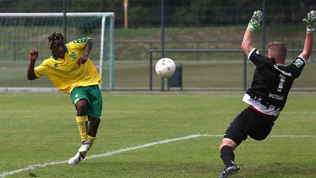 Pierre Fonkeu was the only deadline day signing for Norwich City. Picture: Paul Chesterton/Focus Ima