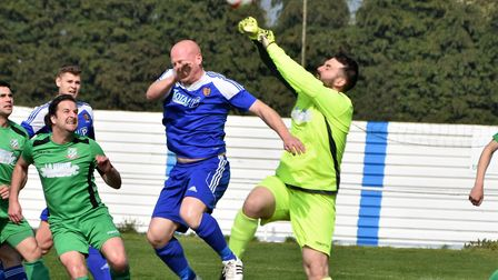 Taurean Molloy was Gorleston's hero in the home draw against Brantham. Picture: David Hardy