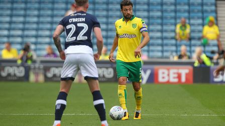 Russell Martin looks to get Norwich City moving at Millwall. Picture: Paul Chesterton/Focus Images