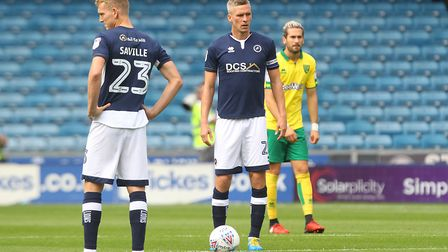 Steve Morison of Millwall prepares to kick off against his old club before the Sky Bet Championship